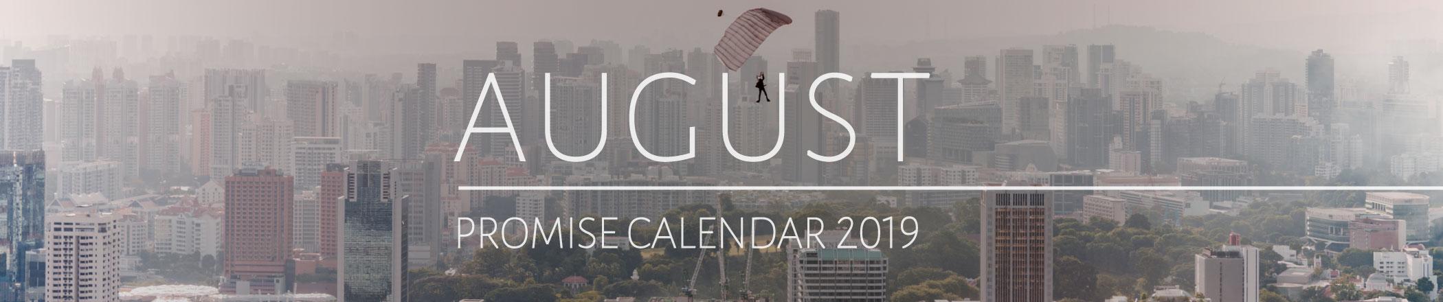 August 2019 Promise Calendar Header