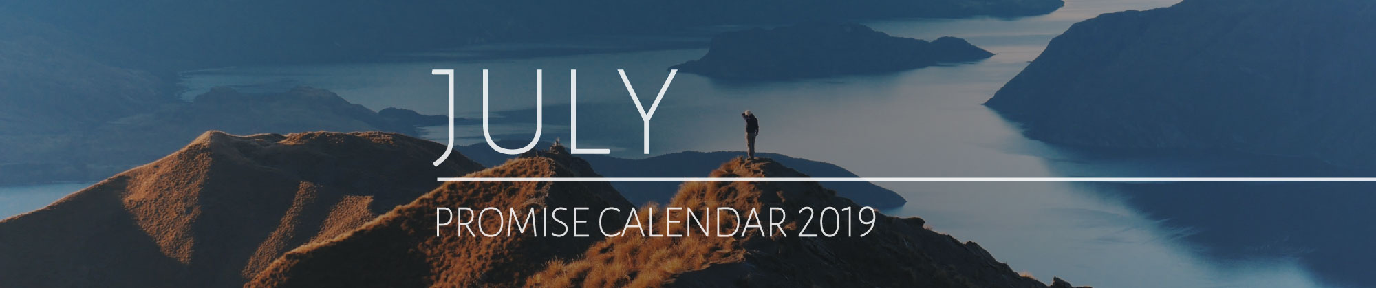 July 2019 Promise Calendar Header