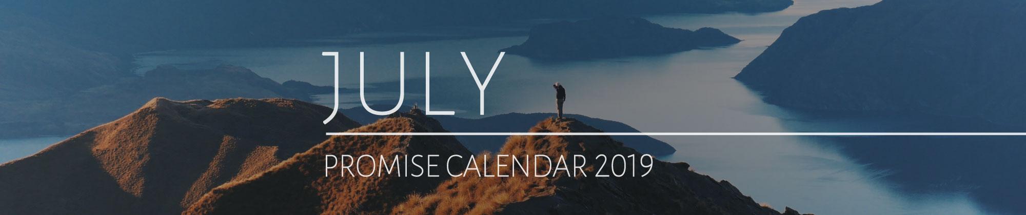 July 2019 Promise Calendar Header
