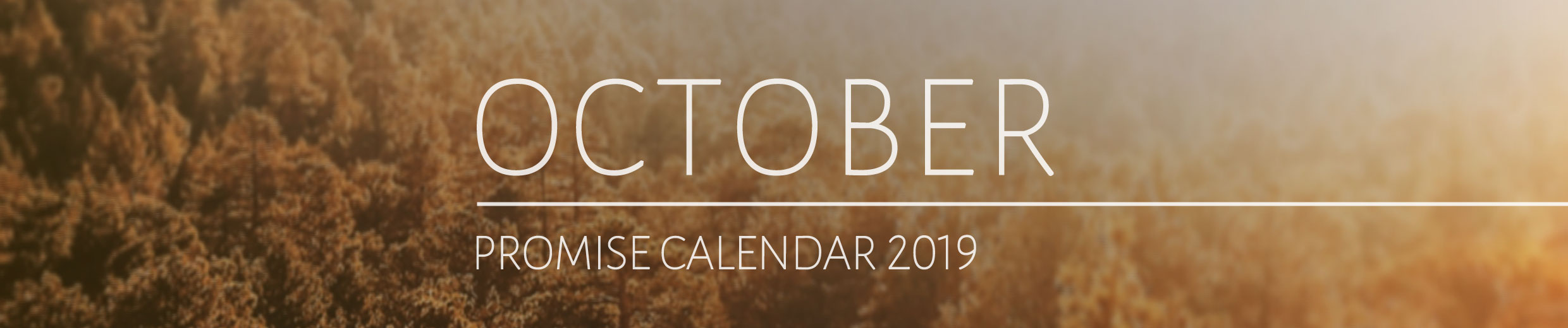 October 2019 Promise Calendar Header