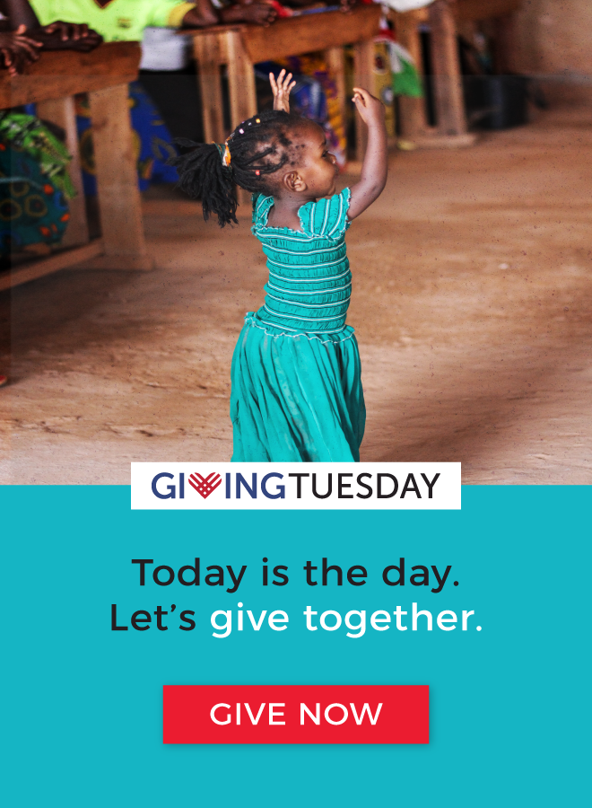 Giving Tuesday - Today is the day. Let's give together.