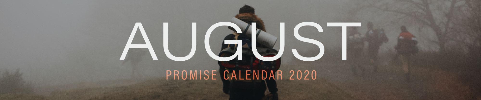 August 2020 Promise Calendar Header