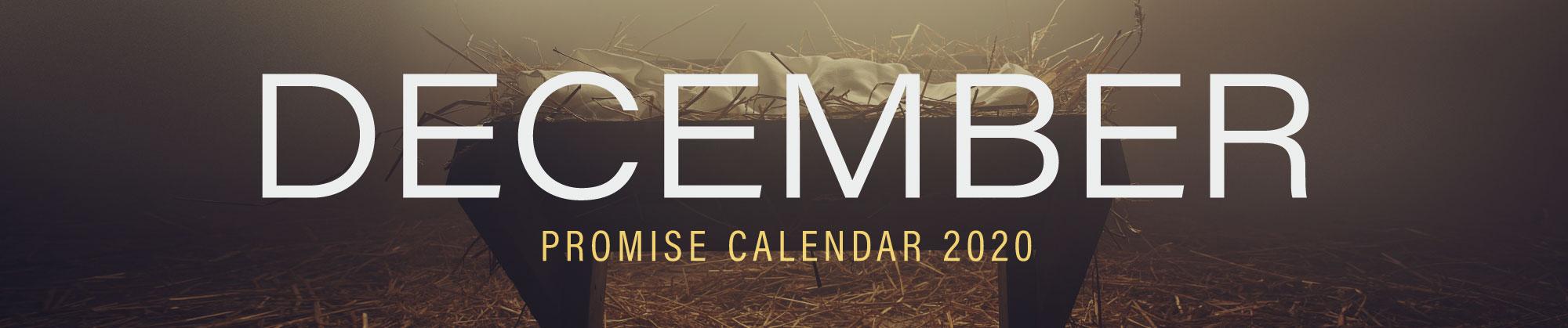December 2020 Promise Calendar Header