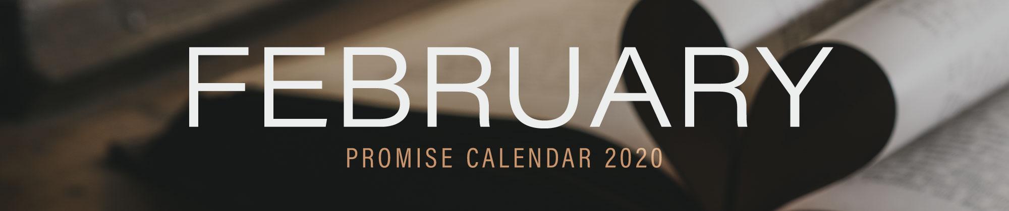 February 2020 Promise Calendar