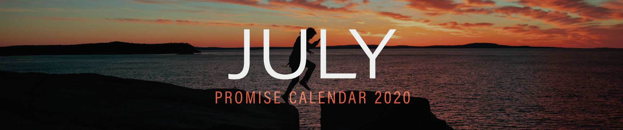 July 2020 Promise Calendar Header