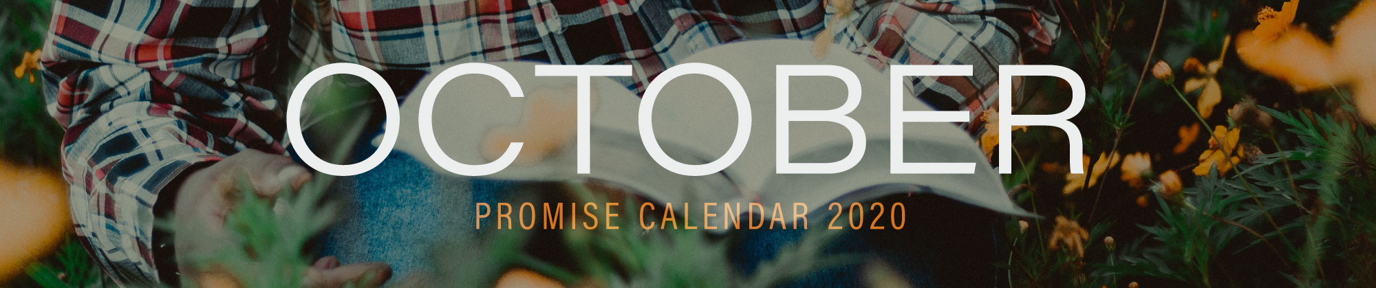 October 2020 Promise Calendar Header