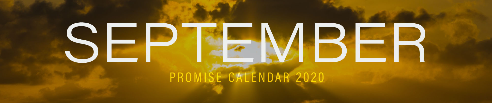 September 2020 Promise Calendar Header