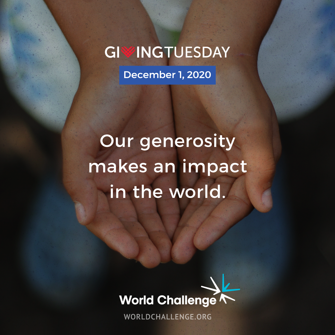 Our generosity makes an impact in the world.