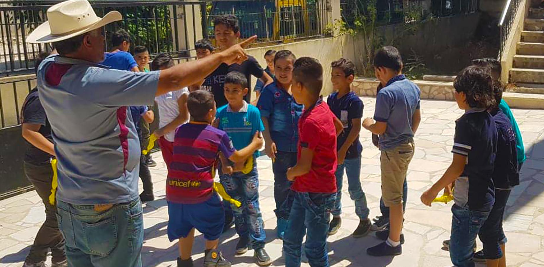 Muhammad with Kids